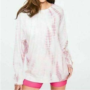 Pink Victoria's Secret Tie Dye Crewneck Sweatshirt
